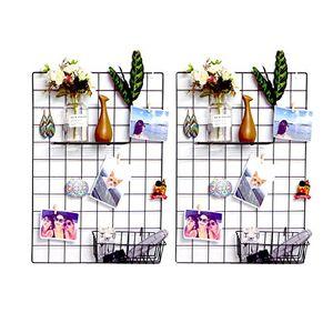 deals for - ray chow 2er diy eisen gitter der foto wand dekoration plaid foto an der wand hängen in der familie küche büro und so weiter 65 45cm schwarz