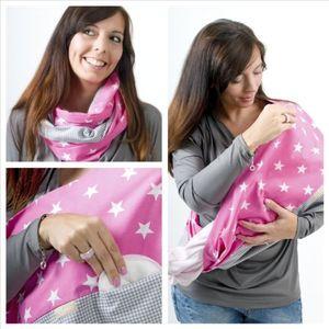mania stillschal stilltuch sterntaler pink mit einschub für stilleinlage in größe l xl handarbeit