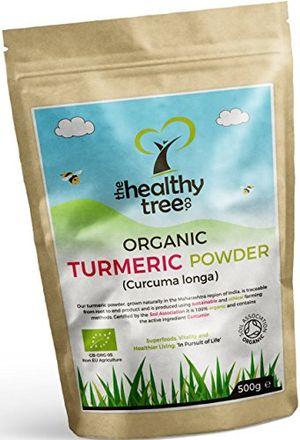 Reseña Cúrcuma Orgánica en Polvo con propiedades antiinflamatorias y antioxidantes - Curcumina de cúrcuma natural y pura en polvo de TheHealthyTree Company certificada por la Soil Association Mejor compra