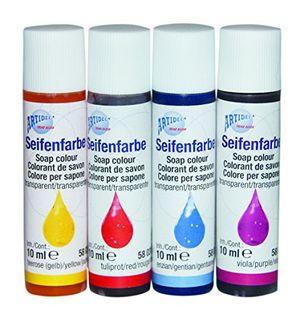 Angebote für -creartec seifenfarben sortiment rot blau gelb violett