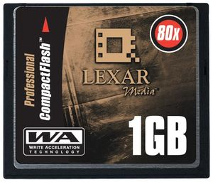 Hot lexar 1gb 80x professional cf card speicherkarte original handelsverpackung