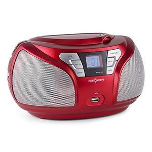 photos of OneConcept Groovie RD • CD Radio • Boombox • CD Player • Bluetooth Schnittstelle • MP3 Fähiger USB Port • UKW Radiotuner • 3,5 Mm Klinken AUX Eingang • LCD Kaufen   model CE