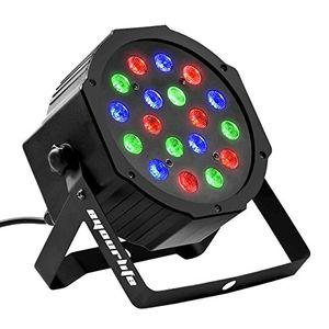 Hot eyourlife bühnenbeleuchtung discolicht bühnenlicht par led 30w lichteffekt dmx512 rgb stage light 18leds eu stecker