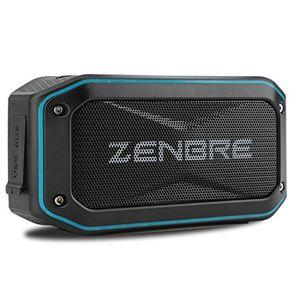deals for - bluetooth lautsprecher zenbre d5 bluetooth 41 ipx7 lautsprecher 40 stunden spielzeit mit 6 w boom basstragbare lautsprecher im robusten design blau