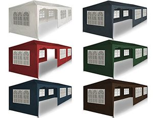 deals for - festzelt 3x9m 25m rot paris pavillon gartenzelt partyzelt eventpavillon