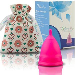 ofertas para - athena copa menstrual la copa menstrual más recomendada incluye una bolsa de regalo talla 2 rosa liso ¡ausencia de pérdidas garantizada