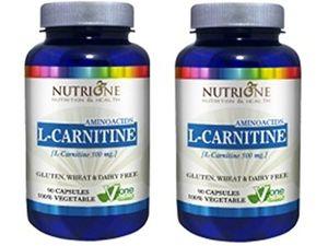 Calientes L-Carnitina 500MG 90CAPS Nutrione - L-Carnitine. (Pack 2u.) Con Descuento