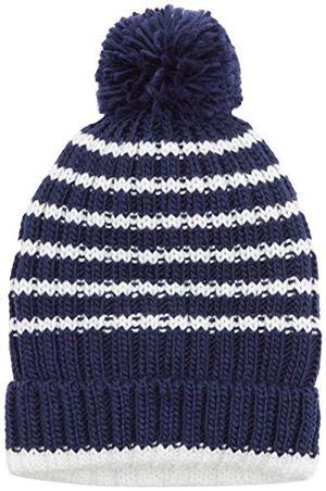 Hot maximo jungen mütze mit umschlag pompon mehrfarbig navyantik weiß 4801 5355