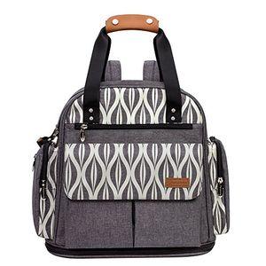 ofertas para - lekebaby mochilas para pañales con cambiador de pañales para mamá y papá unisex gris