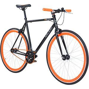 Angebote für -700c 28 zoll fixie singlespeed bike galano blade 5 farben zur auswahl rahmengrösse59 cm farbeschwarz orange