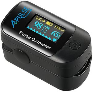 Buy Oxímetro de Pulso con Función de Alarma, APULSE Digital Pulsioxímetro de Dedo Pulsómetro con adaptación por infrarrojos óptica, Medidor de Oxígeno en Sangre SpO2 et PI, Pantalla OLED, Aaprobado por CE y FDA (Negro) Con Descuento