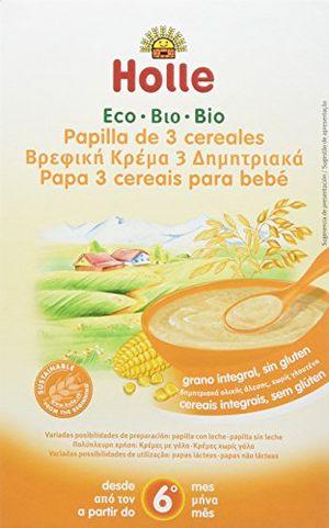 ofertas para - holle papilla 3 cereales 6 meses sin gluten paquete de 6 x 250 gr total 1500 gr