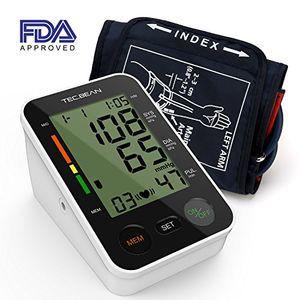 Cheap TEC.BEAN Tensiómetro de Brazo Monitor de presión arterial digital automático para el brazo superior con detección y almacenamiento de frecuencia cardiaca para 2 usuarios, certificado por la FDA Mejor compra