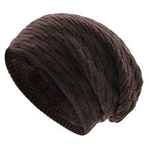 deals for - uphitnis long wintermütze unisex warme slouch beanie mütze in feinstrick mit fleece innenfutter für herren damen