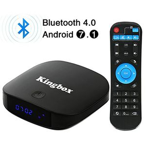 Top kingbox 2018 neueste version k1 plus android 71 tv box 2gb ram 8gb emmc 4k hd quad core bluetooth 40 24ghz wifi 100 lan h265 smart tv box