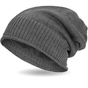 deals for - compagno gefütterte beanie wintermütze mit weichem und warmem teddy fleece futter mütze farbegrau