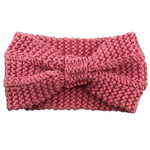 miya elegant strick kopfband warmes strick stirnband für mädchen damen haarband geknotete stirnband kopfband hellpink