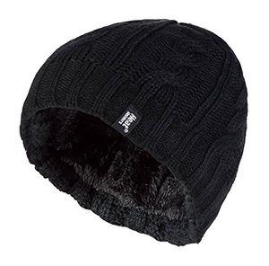 Hot heat holders damen bunt muster strickmütze warm wintermütze mütze in 7 farben schwarz