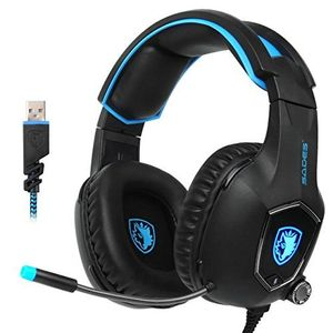 sades r13 usb gaming headset 2017 neue update gaming headset usb verdrahtete pc gaming headset über ohr kopfhörer gaming mit mikrofon revolution lautstärkeregelung noise cancelling led licht schwarz