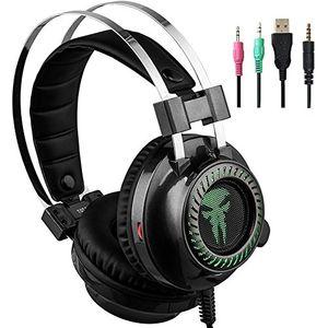 Angebote für -gaming headset kopfhörer für ps4 xbox one surround sound gaming kopfhörer mit 35 mm stereo verkabelt über ohr kopfhörer mit mikrofon lautstärkeregler für pc mac xbox playstaion laptop mobile