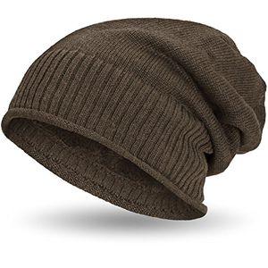 compagno gefütterte beanie wintermütze mit weichem und warmem teddy fleece futter mütze farbehellbraun
