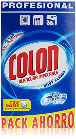 Top Colon Detergente Polvo - 135 Lavados (7037 gr) antes de compra