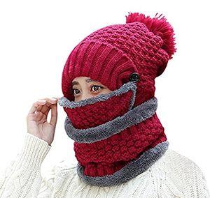 Angebote für -wetoo damen wintermütze strickmütze gefüttert warm und schal set mit bommel