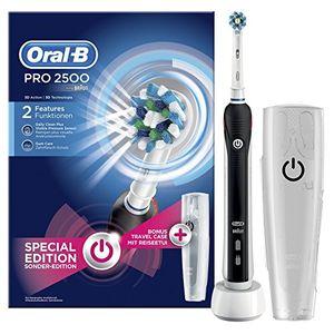 Inicio Oral-B PRO 2500 CrossAction - Cepillo de dientes eléctrico recargable, pack regalo, edición negro ofertas especiales