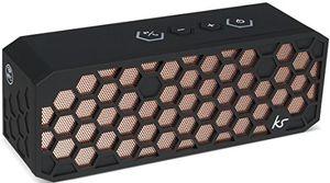 photos of KitSound Hive2 Wireless Bluetooth Tragbarer Lautsprecher Mit 3,5mm Audioeingang Kompatibel Mit Apple IOS Und Android Smartphones, Tablets Und MP3 Playern   Schwarzkupfer Handbuch Kaufen   model Speakers