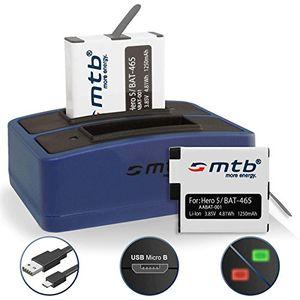2 akkus 1250mah dual ladegerät usb für aabat 001 für gopro hero 5 hero 6 mit allen firmwares kompatibel v251 inkl micro usb kabel