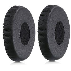 kwmobile 2x ohrpolster für bose oe2soundtrue oe kopfhörer kunstleder ersatz ohr polster für bose headphones schwarz