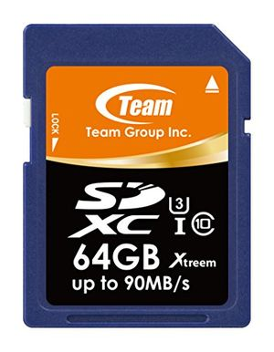 Hot teamgroup tsdxc64gu301 flash card sd 64gb x u3