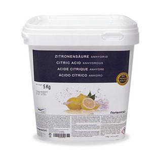 Ácido Cítrico NortemBio 5 kg, Calidad Premium, Polvo Anhidro, Natural, 100% Puro, para producción ecológica. Producto CE. ofertas Especiales