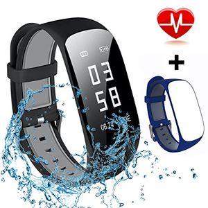 mocrux fitness tracker hr unisex armband zur herzfrequenz
