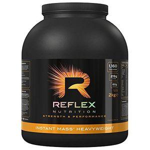 reflex nutrition instant mass heavyweight 2kg strawberries cream by reflex nutrition