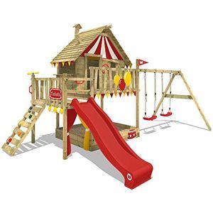 Angebote für -wickey spielturm smart trip kletterturm zirkuszelt spielhaus mit schaukel und rutsche holzdach sandkasten und veranda