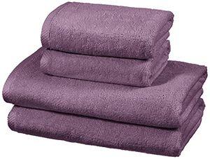 ofertas para - amazonbasics juego de 4 toallas de secado rápido 2 toallas de baño y 2 toallas de mano lavanda