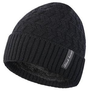 Top novawo verdickte wollmütze mit teddyfleece innenfutter unisexe warme kopfkappe herbst winter mütze strickmütze
