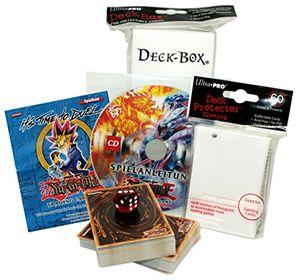 yu gi oh starterpack nr3 100 gemischte karten 60 hüllen 1 deck box 1 spielanleitung cd 1 spielfeld