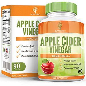 Inicio Vinagre de Sidra de Manzana - 400 mg - Apple Cider Vinegar - 90 Cápsulas (Suministro Para 3 Meses) de Earths Design Guía