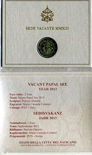 deals for - 2 euro vatikan 2013 sedies vakanz papstwahl im folder