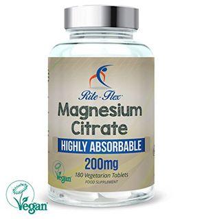 ofertas para - citrato de magnesio 180 tabletas certificadas veganas magnesio altamente absorbible por rite flex
