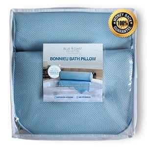 Reseña Almohada Premium para bañera. El Bonnieu Bath Pillow es un cojín reposacabezas para la bañera, jacuzzi, spa e hidromasaje. Diseñado para un confort superior con texturas suaves que resiste hongos y moho, de fácil limpieza y secado rápido. ¡Disfrute hoy de un baño más relajante! antes de compra