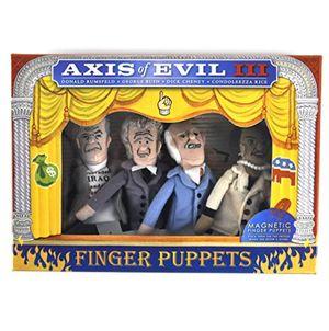 deals for - axis of evil lll finger puppet set rumsfeld bush cheney condoleezza