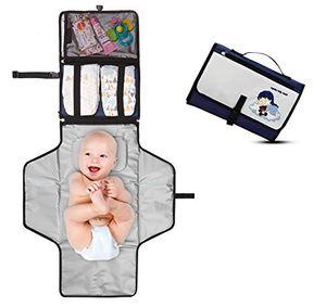 ofertas para - cambiador portátil de pañales para bebé kit cambiador de viaje completamente acolchado esterilla lavable de quita y pon para usar fuera de casa perfecto como regalo baby dream