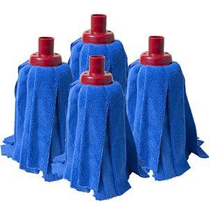 Hot Fregola Pack de Mopas, Tejido de Microfibra, Azul, 35x28x8 cm, 4 Unidades Mejor compra