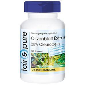 Review for Extracto de hojas de olivos - 20% de oleuropeína - 120 cápsulas - Sustancia pura y sin aditivos comparación