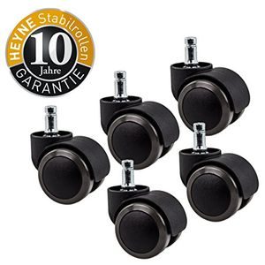 Angebote für -heyne stabil 5x hartbodenrollen 10 mm 50 mm bürostuhlrollen für hartböden lauffläche grau