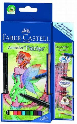 faber castell 114482 zeichenset art grip aquarelle anime art fairies