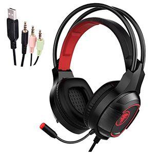 gaming headset jiejiewyd gaming kopfhörer mit mikrofon für gaming musik chat ps4 pc laptop tablet mobile rot
